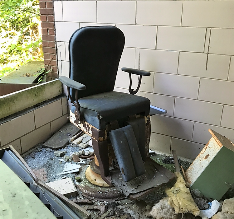Abandoned Forest Haven Asylum Chair
