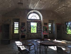 Abandoned Forest Haven Asylum Sun