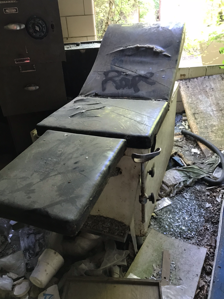 Abandoned Forest Haven Asylum Exam Table Rape