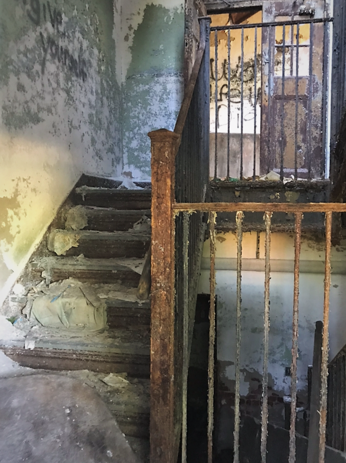 Abandoned Forest Haven Asylum Stairs