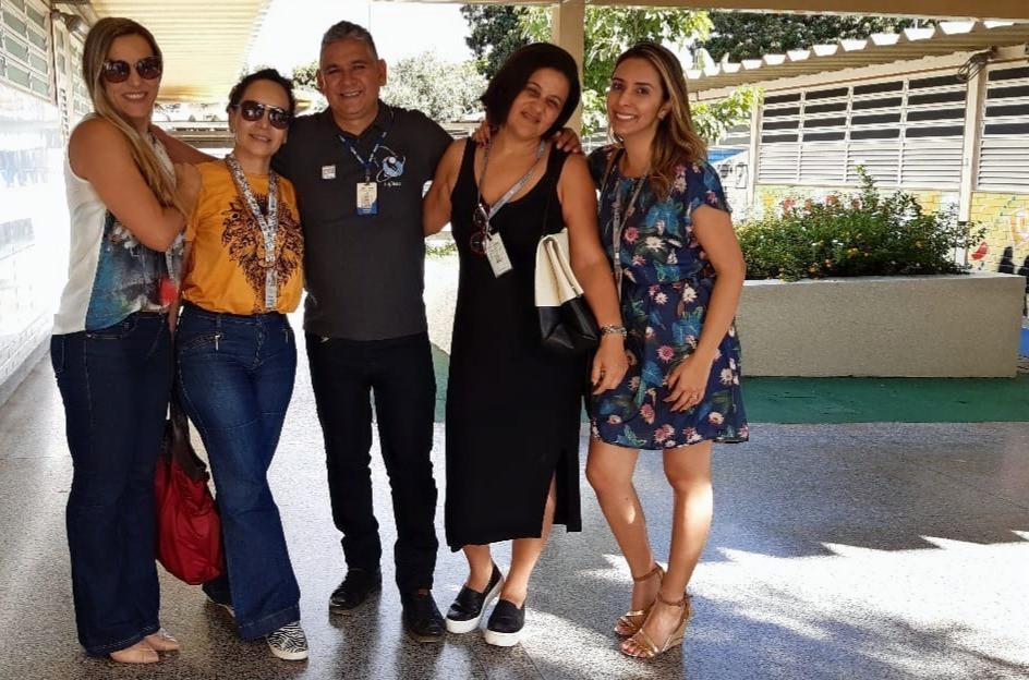 Carlos Lafaiete (diretor) e Ana Cristina (DIEM), Luzineide (DIEP), Vânia (DIEM),  Erica (DIEM)