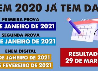ENEM 2020 JÁ TEM DATA!