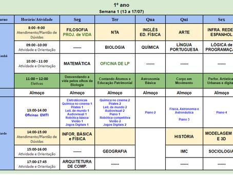 Horário CEMI - Gama Semanal - 13 a 17/07