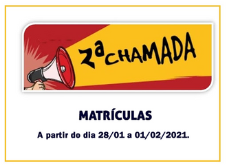 SEGUNDA CHAMADA MATRÍCULAS NO CEMI