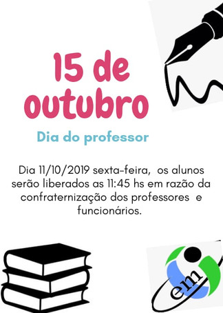 ATENÇÃO SENHORES PAIS E/OU RESPONSÁVEIS!