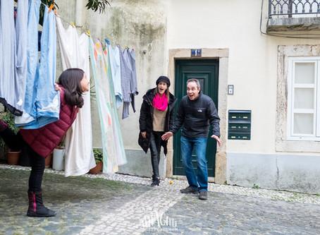 Lilian, Luciano e Laura pelas ruelas de Alfama | Lisbon Photo Tour