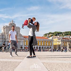 Juliana, Marcelo e João em Lisboa
