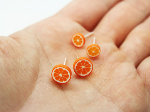 Food polymer clay studs - 6-9mm