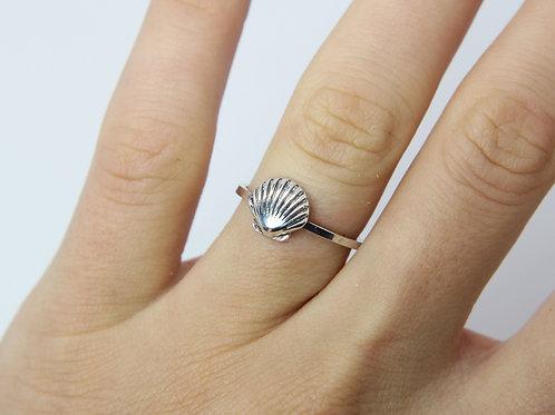 Seashell ring - Sterling silver ring - Ocean ring