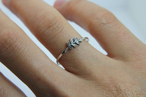 Olive branch ring - Sterling silver ring - Nature ring