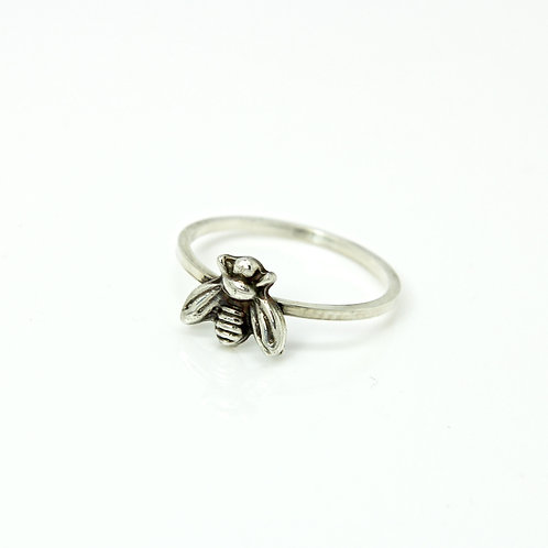 Bee ring - Bumble bee ring - Sterling silver ring