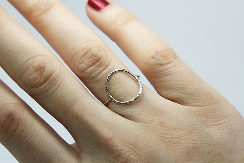 Infinity ring - Sterling silver ring - Circle ring - Minimalist