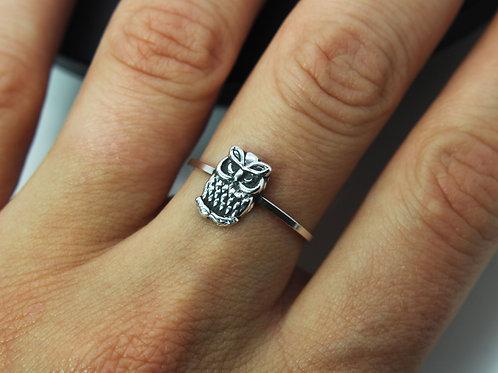 Owl ring - Sterling silver ring - Animal ring