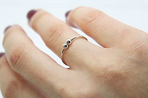 Worry ring - Anxiety ring - Fidget ring - Silver ball ring - delicate ring