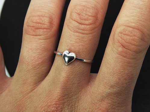 Heart ring - Sterling silver ring - Love ring