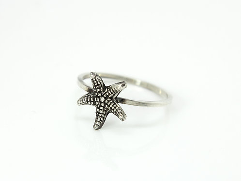 Starfish ring - Sterling silver ring - Ocean ring
