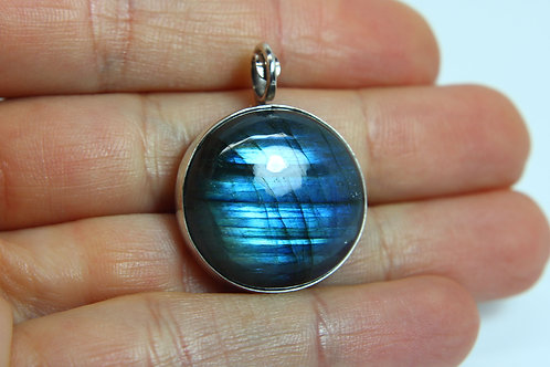 Blue Labradorite pendant 'Divine' Sterling silver jewelry - healing crystals