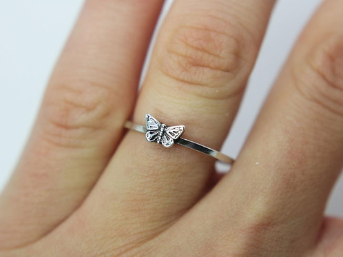 Butterfly ring - Sterling silver ring - Insect ring