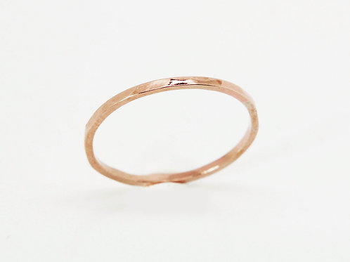 9ct Rose gold wedding band - River - Thin wedding band - skinny wedding ring