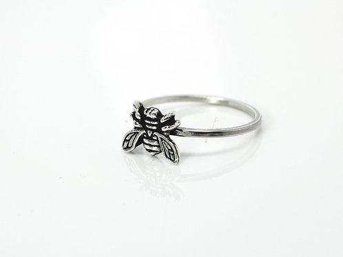 Honeybee ring - Sterling silver ring - Bee ring