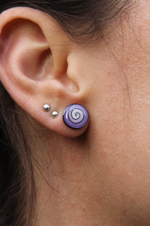 Spiral Stud Earrings - Polymer Clay