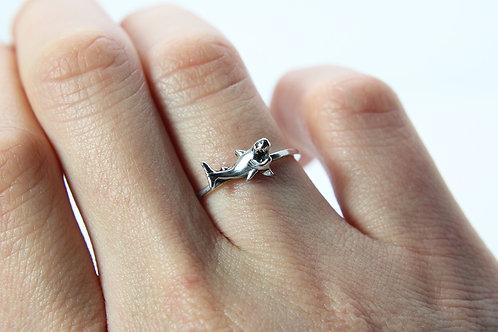 Shark ring - Sterling silver ring - Ocean ring - Australia
