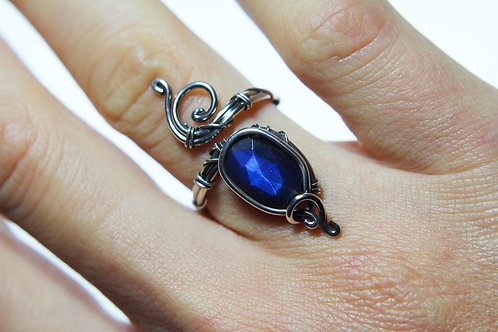 Labradorite ring 'Fire' Sterling silver ring  image 0 Labradorite ring 'Fire' S