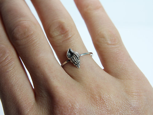 Sea snail ring - Sterling silver ring - Ocean ring