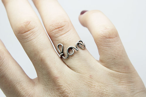 Love ring - Sterling silver ring - Friendship ring