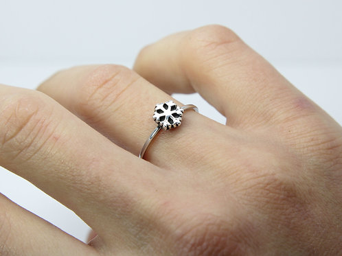 Snowflake ring - Sterling silver ring - Winter ring