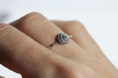 Sea treasure ring - Sterling silver ring - Ocean ring