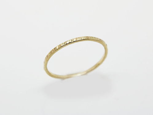 9ct Yellow gold wedding band - Sun - Thin wedding band - skinny weddin