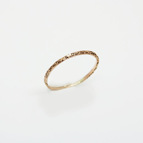 9ct Yellow gold wedding band - Sugar - Thin wedding band - skinny wedding ring
