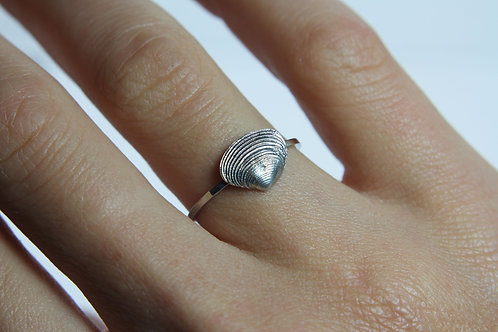 Seashell ring - Sterling silver ring - Ocean ring
