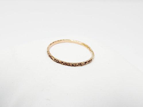 9ct Rose gold wedding band - Sugar - Thin wedding band - skinny weddin