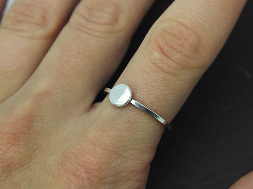 Circle ring - Sterling silver ring - Minimalist ring