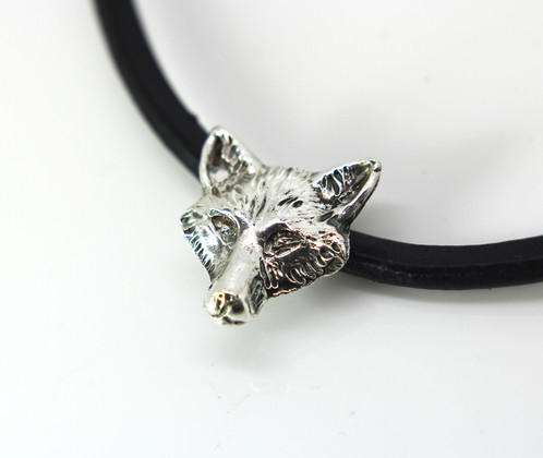 Wolf head necklace sterling silver wolf pendant choker pure wolf head necklace sterling silver wolf pendant choker pure silver gift mozeypictures Choice Image