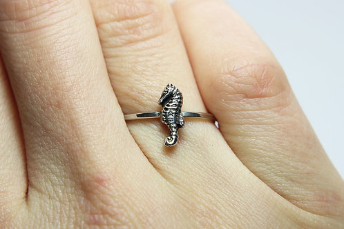 Seahorse ring - Sterling silver ring - Ocean ring