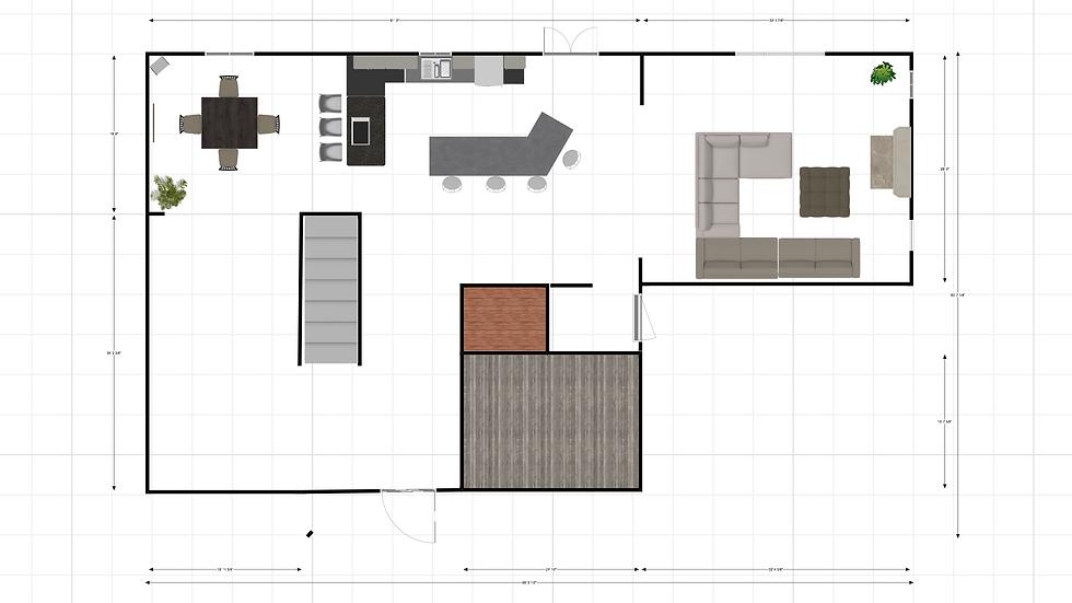 Single Room Furniture Layout