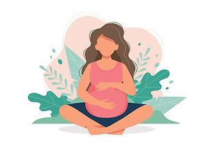 pregnant-woman-doing-prenatal-yoga-pregn