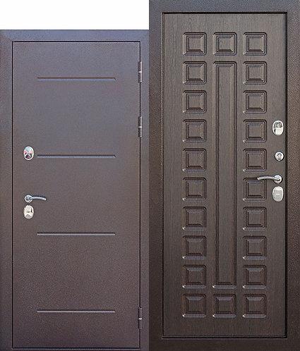 дверь c ТЕРМОРАЗРЫВОМ 11 см Isoterma медный антик