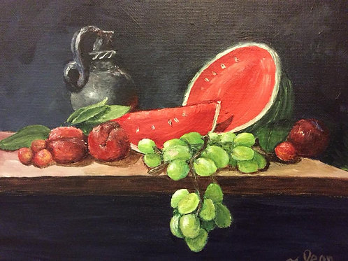 Watermelon and Plums