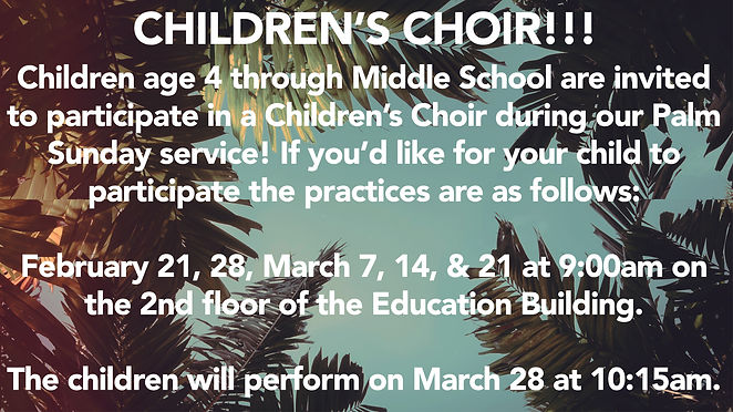 Children's Choir Palm Sunday 2021-03-28.