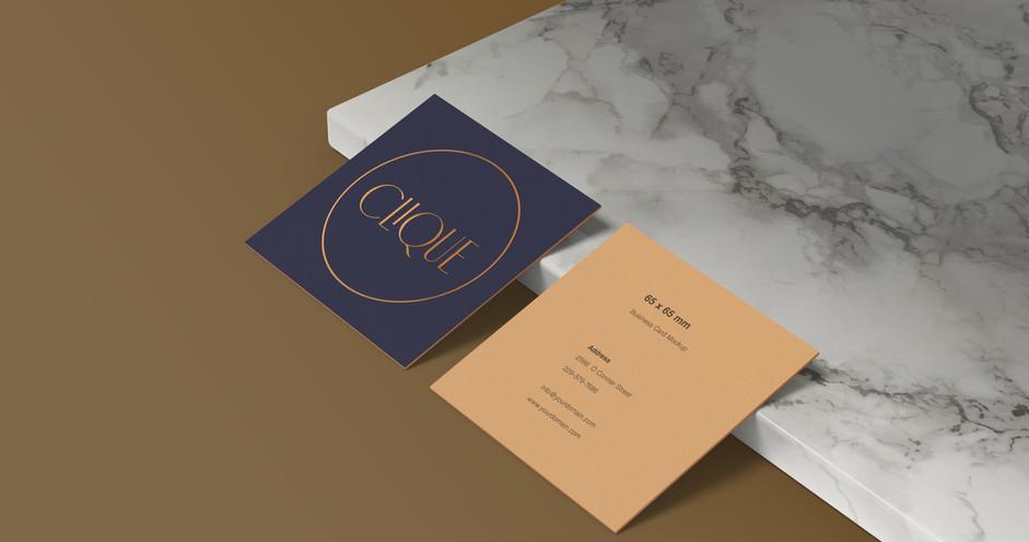 clique business card