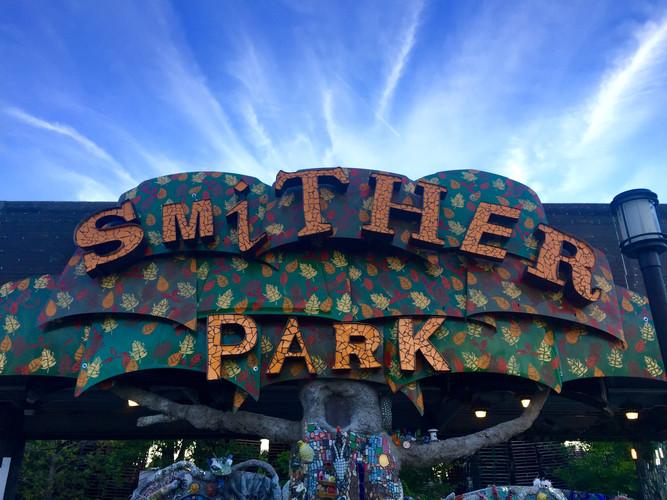 Smither Park Sign on the Vinson & Elkins