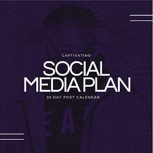 30 Day Social Media Plan