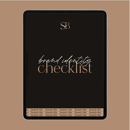 Brand Identity Checklist