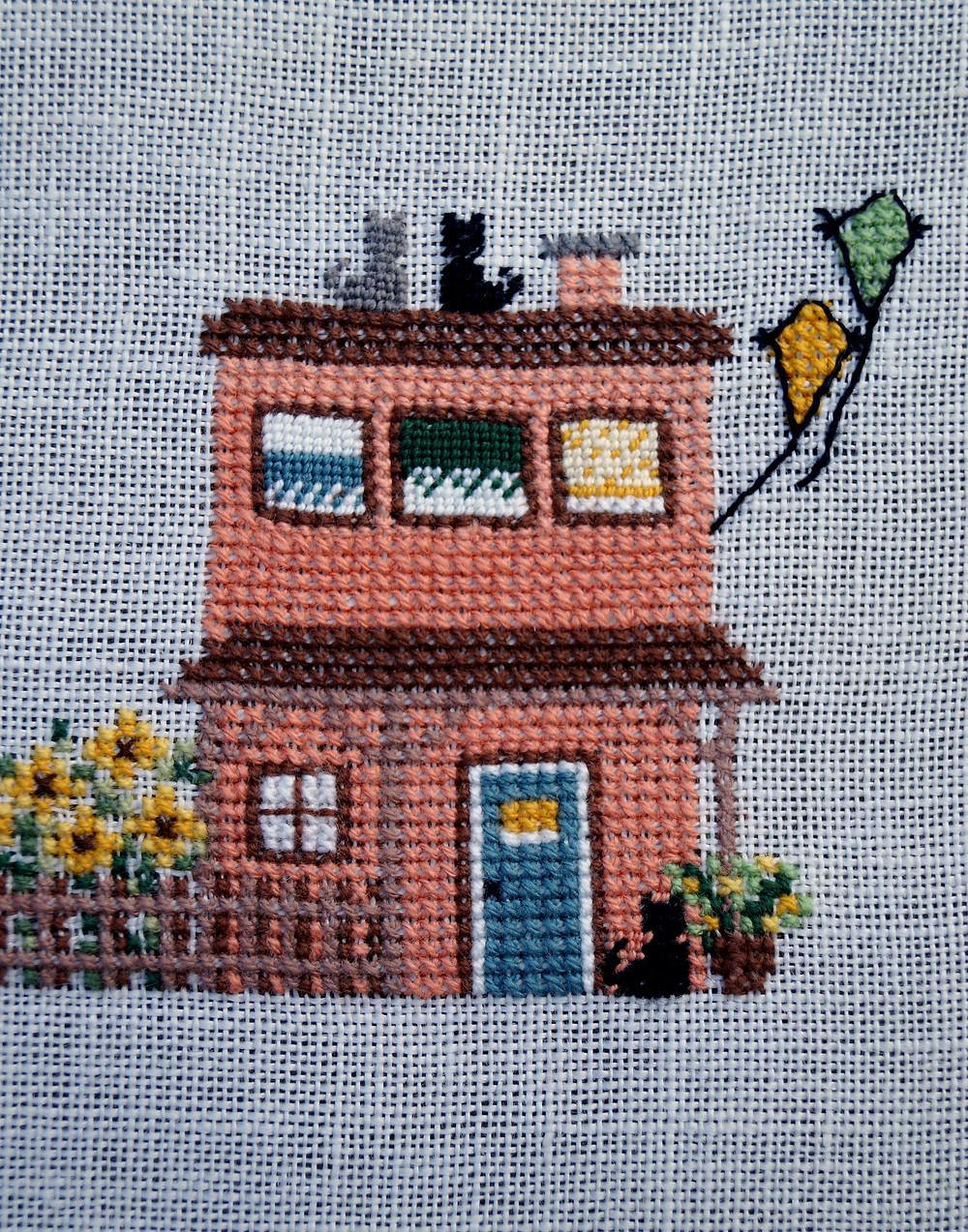 Kreuzstichmotiv Haus im August von Rosa4052 SAL 2019