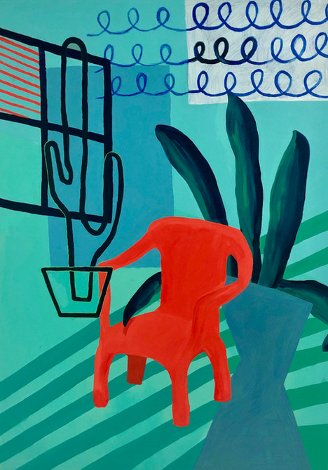 The Red Chair on the Porch