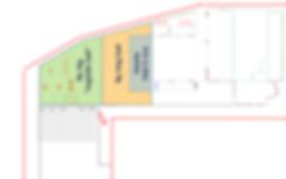 Logistikkonsult - Sim Logistics - Skiss visandes tomtgräns, lagerlokal och utbyggnadsplaner.